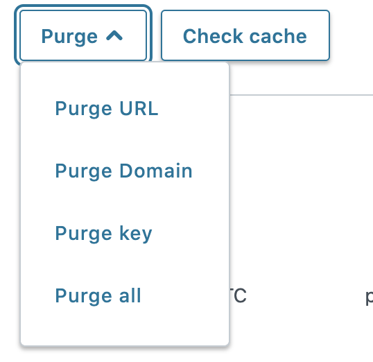 Mockup for purging by domain in the Fastly UI